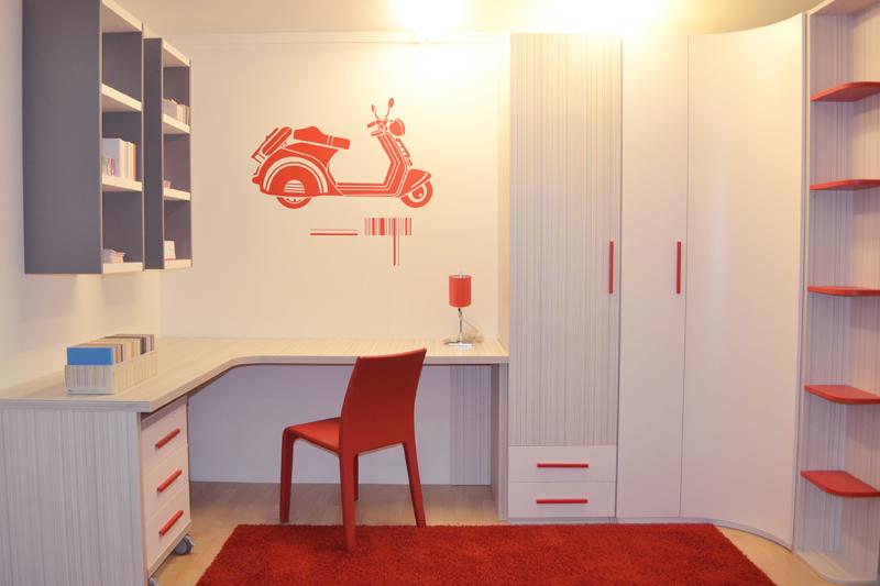 Habitaci n juvenil lacada s per rebajada muebles for Sillas para habitacion juvenil