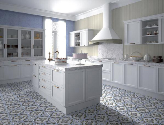 C mo decorar un sal n r stico insp rate muebles gasc n el blog - Baldosa hidraulica cocina ...