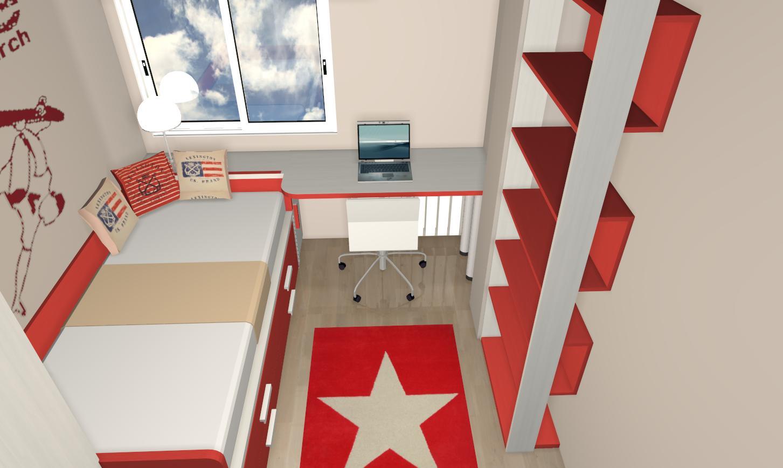 Habitaci N Juvenil Roja Muebles Gasc N Muebles Gasc N El Blog