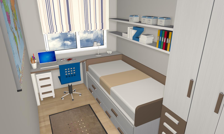 Habitaci n juvenil cama nido muebles gasc n muebles for Habitacion infantil juvenil