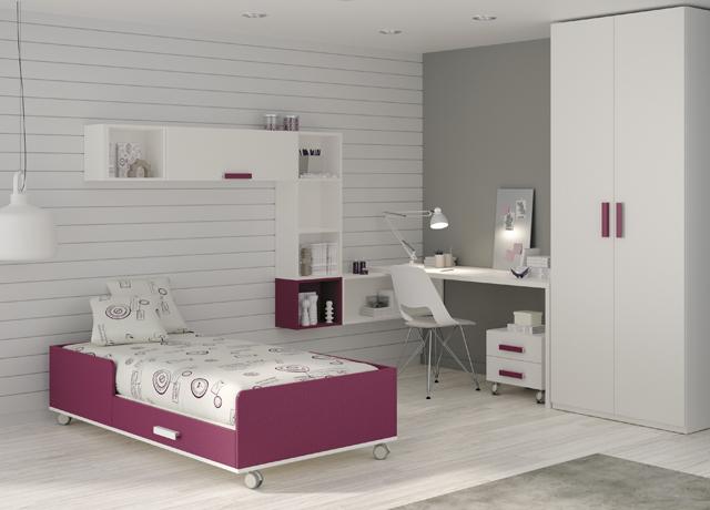 10 propuestas de habitaci n juvenil muebles ros muebles for Mueble que se hace cama
