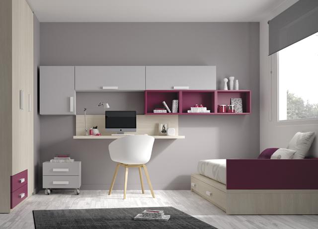10 propuestas de habitaci n juvenil muebles ros muebles for Espejos habitacion juvenil