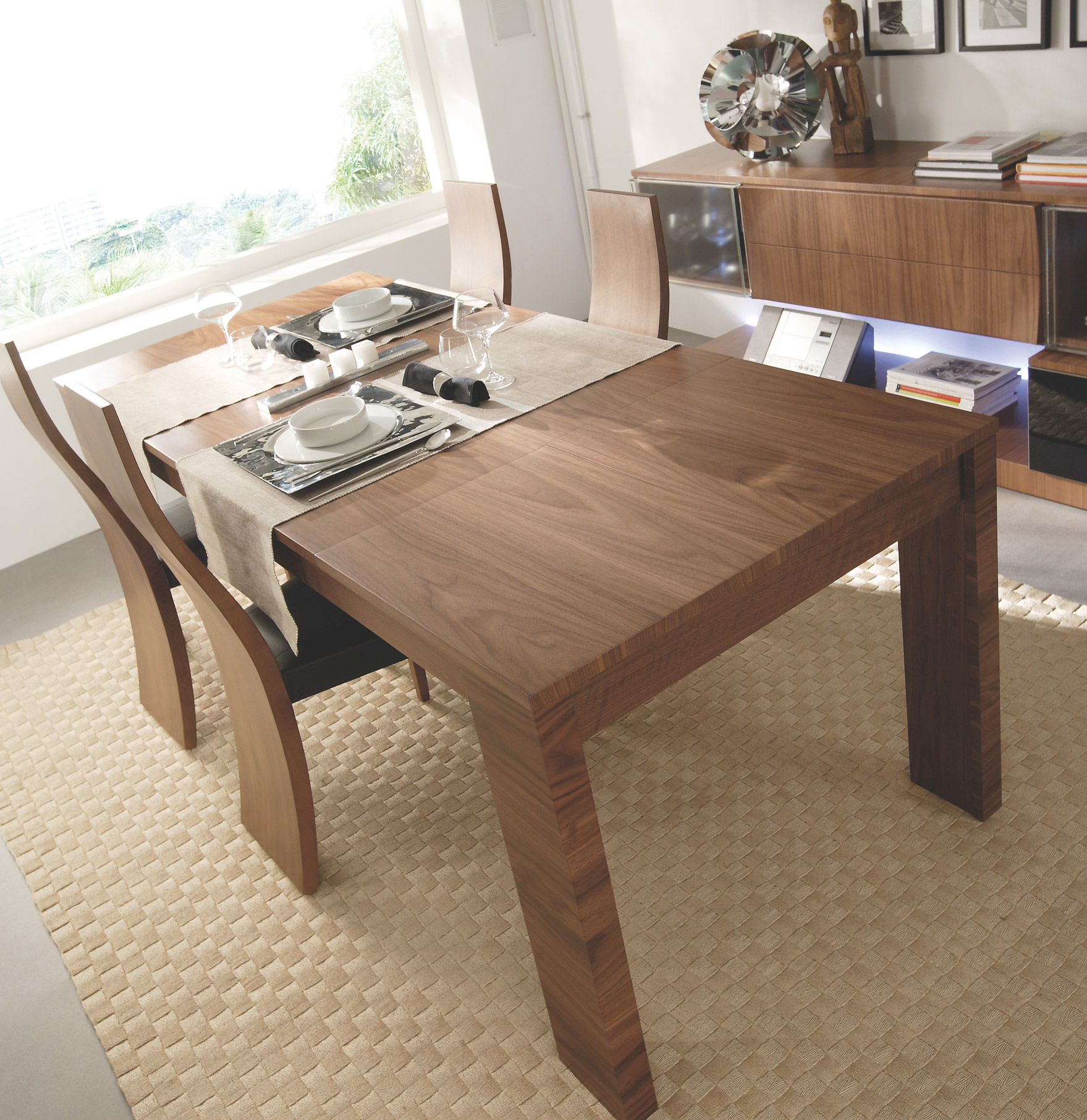 Mesa navide a muebles gasc n el blog - Color nogal americano ...