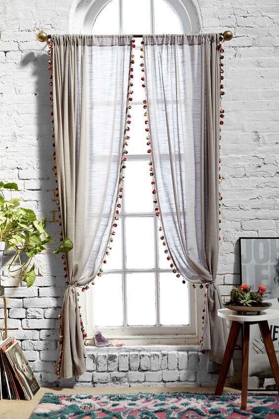Decorar con cortinas muebles gasc n el blog - Formas de cortinas ...