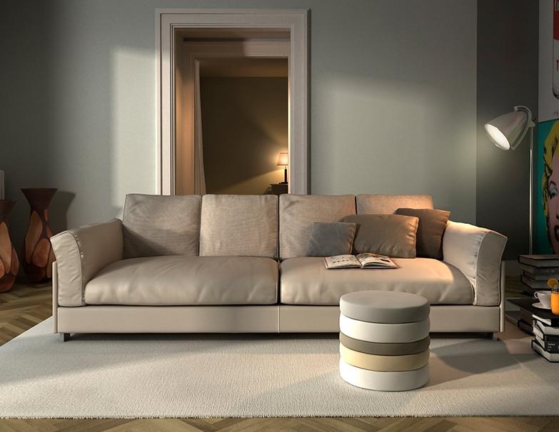 Sof de tela o sof de piel muebles gasc n el blog for Sofas esquineros de piel
