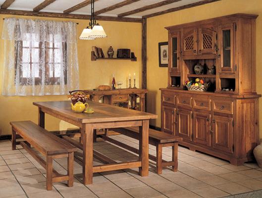 cadiera y mesas madera maciza bodega muebles gascon