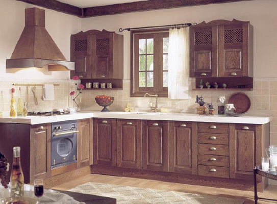 cocina rustica madera oscura muebles gascon
