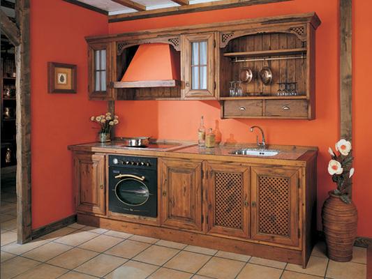 cocina rustica muebles gascon madera envejecida