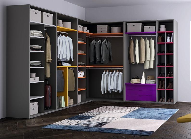 armario sin puertas colores
