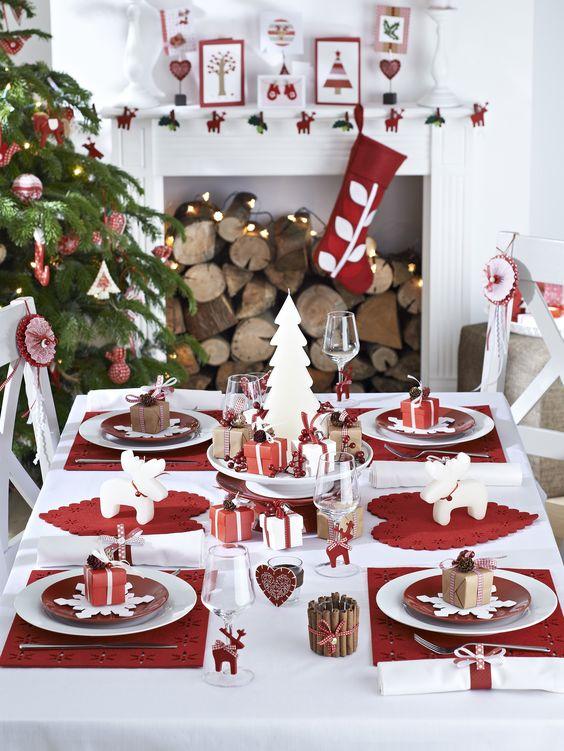 mesa decoración navidad
