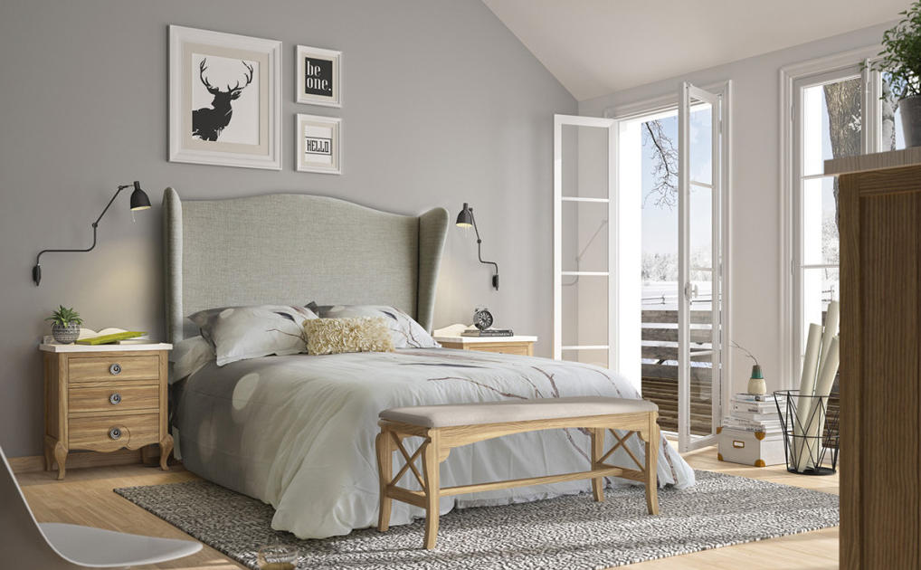 dormitorio con colores relajantes