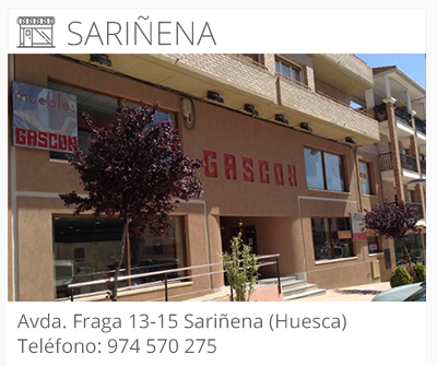 Muebles gascón | LOCALIZACIÓN SARIÑENA | Tienda de Muebles Huesca